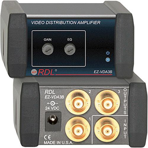 RDL EZ-VDA3B  1x3 Composite Distribution Amplifier (BNC)