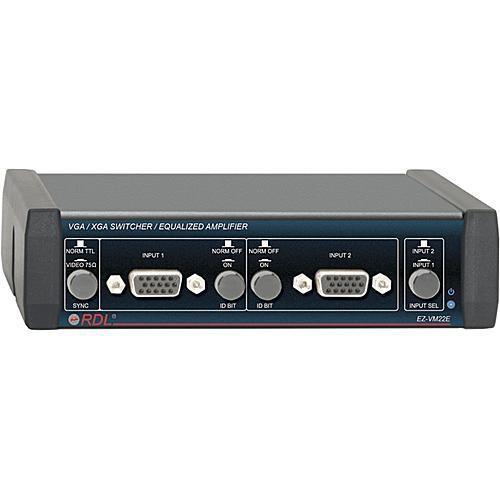 RDL EZ-VM22E  VGA/XGA Switcher/Equalized Amplifier (BNC)