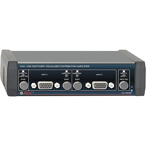 RDL EZ-VM24E 2x4 VGA/XGA Switcher/Equalized Distribution Amplifier