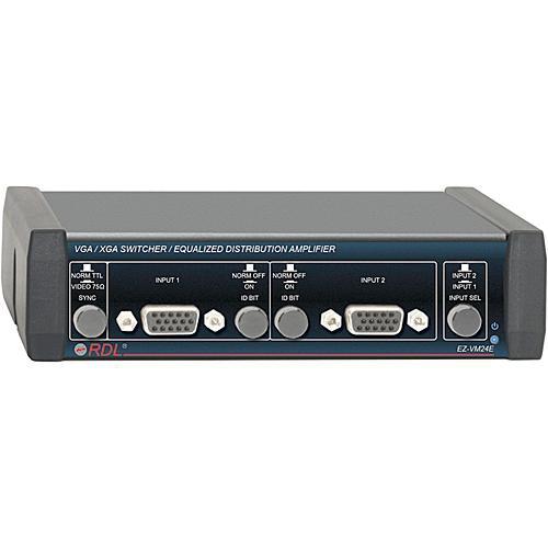 RDL EZ-VM24E 2x4 VGA/XGA Switcher/Equalized Distribution Amplifier