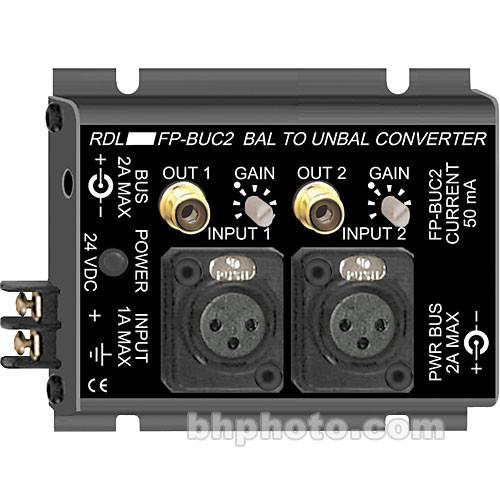 RDL FP-BUC2 2-Channel Balanced to Unbalanced Converter