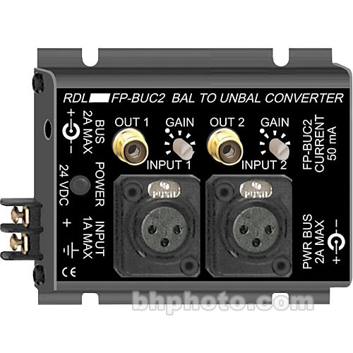 RDL 2-Channel Bal to Unbal Converter