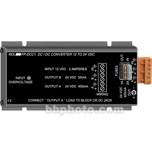RDL FP-DCC1 12VDC to 24VDC Converter
