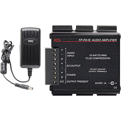 RDL FP-PA18 18 Watt Audio Power Amplifier with Power Supply