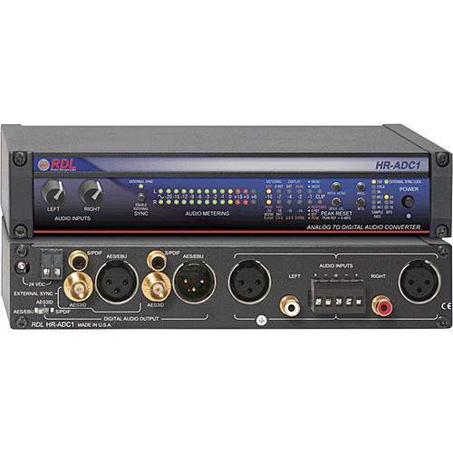 RDL HR-ADC1 - Analog to Digital Audio Converter - 24 Bit 192 kHz