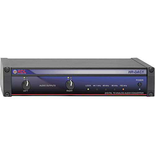 RDL HR-DAC1 - Digital to Analog Converter - 24 Bit 192 kHz