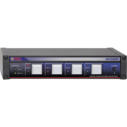 RDL HR-DSX4 - 4 Input 1 Output Digital Audio Selector