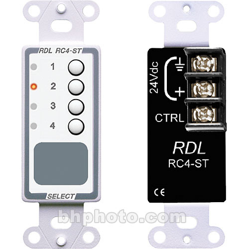 RDL RC4-ST - 4 Channel Remote Control