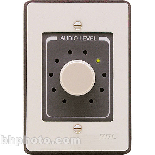 RDL RCX-10R - Wall-Mount Rotary Volume Control for RCX-5C (Black)