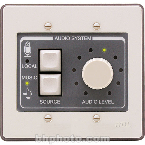 RDL RCX-2 - Wall-Mount Rotary Room Control for RCX-5CM (Black)