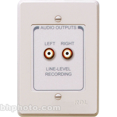 RDL RCX-A2N Wall Plate with Dual Phono Audio Outputs for the RCX-5C Audio Controller (Neutral Color Finish)