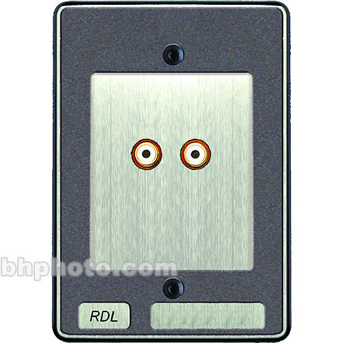 RDL RCX-A2S Wall Plate with Dual Phono Audio Outputs for the RCX-5C Audio Controller (Steel Finish)