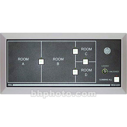 RDL RCX-CD1L Remote Control Panel for RCX-5C Five-Zone Controller with Lock Option