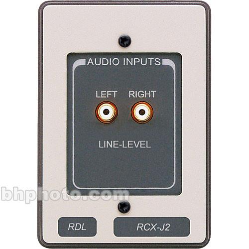 RDL RCX-J2 Unbalanced Line-Level Audio Input Panel Assembly (White & Gray)