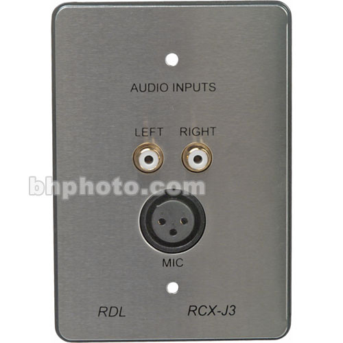 RDL RCX-J3S Complete Audio Input Panel Assembly (Gray & Silver)