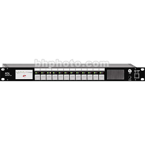 RDL RM-MP12A - 12-Channel Audio Monitor Panel