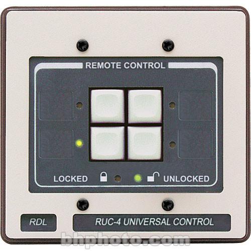 RDL RUC-4 - 4-Button Universal Remote Control (Black)