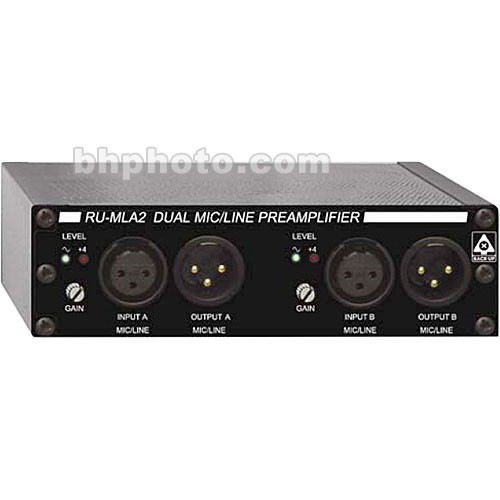 RDL RU-MLA2 - Dual Channel Microphone/Line Preamplifier with Four Channel Audio Distribution