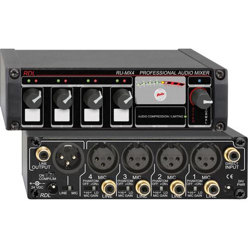 RDL RU-MX4 Four Channel Mixer