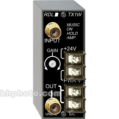 RDL TX-1W Music-On-Hold Amplifier