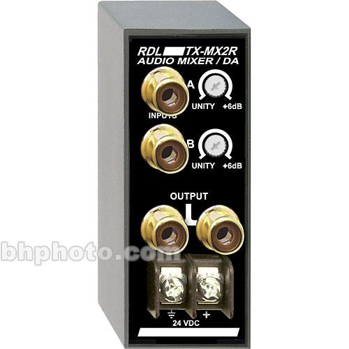 RDL TX-MX2R - Audio Mixer/Distribution Amplifier