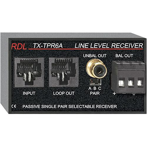 RDL TX-TPR6A Passive Single-Pair Receiver - Twisted Pair Format-A