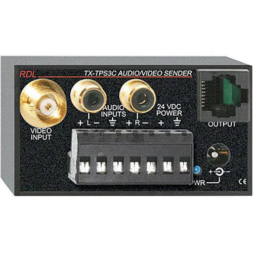 RDL TX-TPS3C Active Three-Pair Sender - Twisted Pair Format-C
