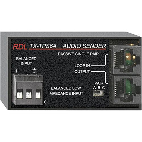 RDL TX-TPS6A Active Single-Pair Sender - Twisted Pair Format-A