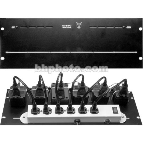 RDL WH2 Power Supply Mounting Adapter Kit - Mounting Bracket for 6 Power Supplies (Mounts to Rear Rack Rails)