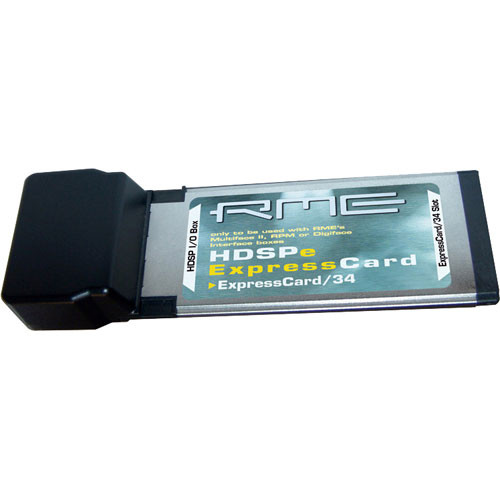 RME HDSPe ExpressCard - ExpressCard Interface for Notebooks