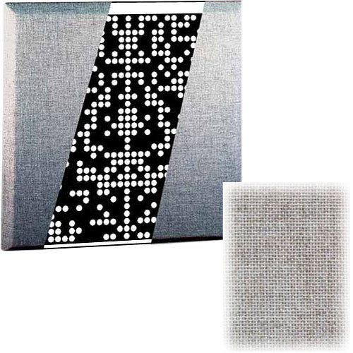 RPG Diffusor Systems Flatffusor - Diffusion and Absorbtion Panel (Silver) - 2 Pieces