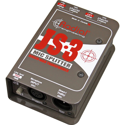 Radial Engineering JS-3 - Three-Way Microphone Signal Splitter