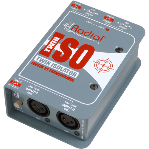 Radial Engineering Twin-Iso - Two Channel Balanced Line Isolator with Jensen Transformers