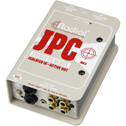 Radial Engineering JPC Active Direct Box for Laptop Computers