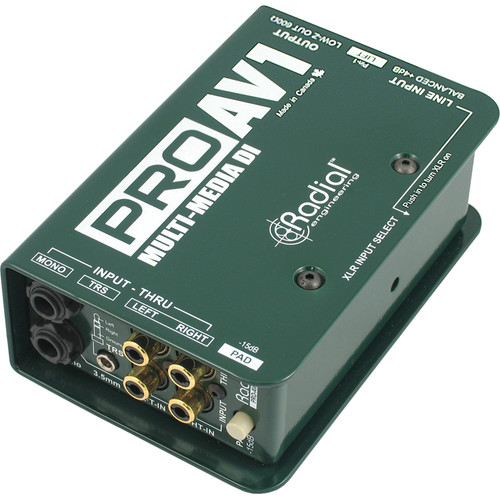 Radial Engineering ProAV1 Passive Multimedia Direct Box