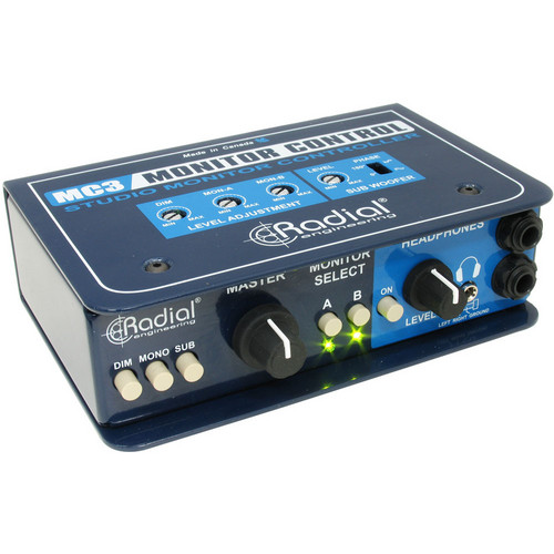 Radial Engineering MC3 - Studio Monitor Controller with Headphone Amplifier
