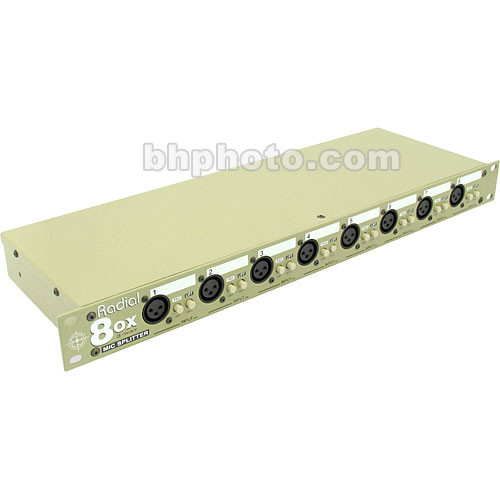 Radial Engineering 8ox-rm-r - Rack-Mount Eight-Channel, Three Way Microphone Splitter with Radial Transformers