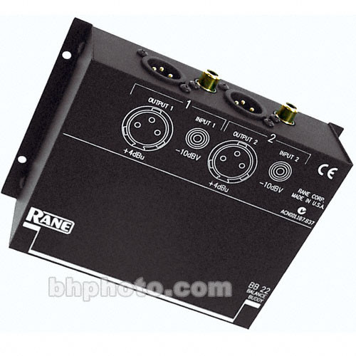 Rane BALANCE BUDDY 2 Channel Level Matching Converter