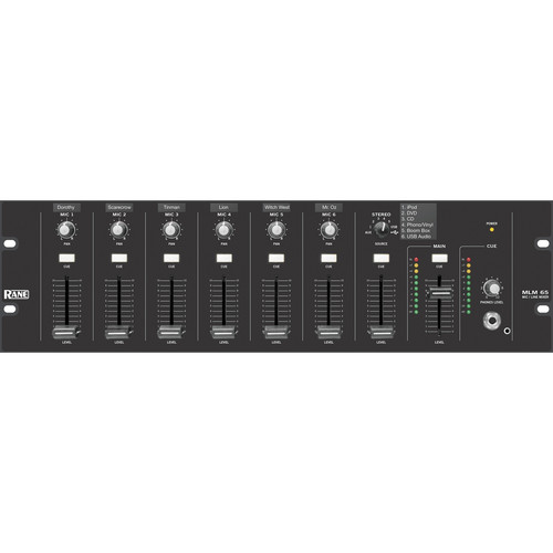 Rane MLM 65 Microphone and Line Audio Mixer