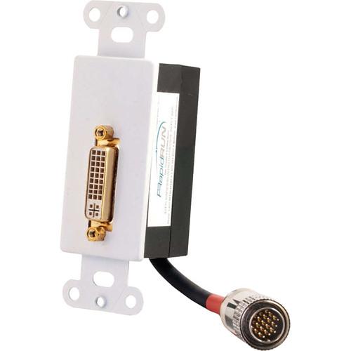 C2G Digital DVI- Passive Wall Plate (White)