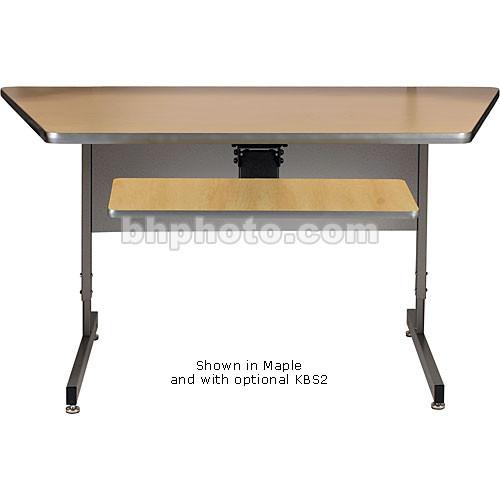 Raxxess Angled Center Desk (Ebony)