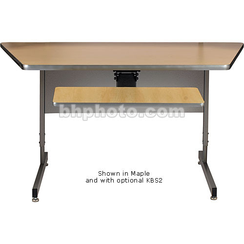 Raxxess Angled Center Desk-Large (Ebony)