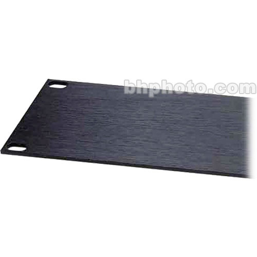 Raxxess Aluminum Flat Flanged Panel with 4 Spaces, Model AFT4  (Black Brush Anodized )