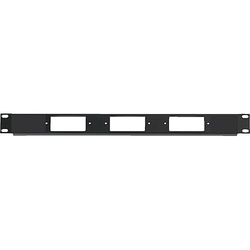 Raxxess 1U Three Decora Device Rack Panel