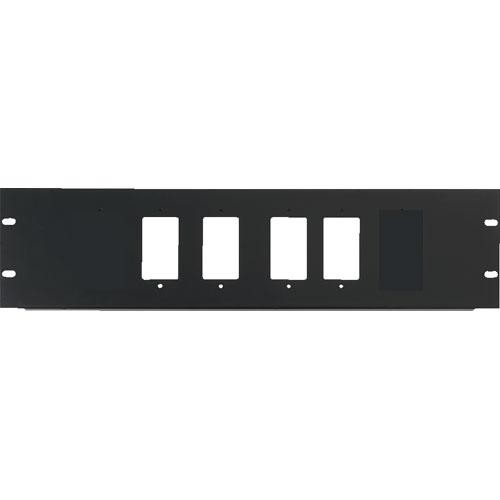 Raxxess 3U Four Decora Device Rack Panel