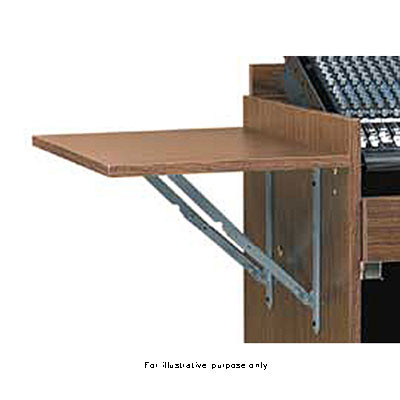 Raxxess Accessory Flip Shelf for the ECR Cabinet, Model ECRCHSHELF (Walnut)
