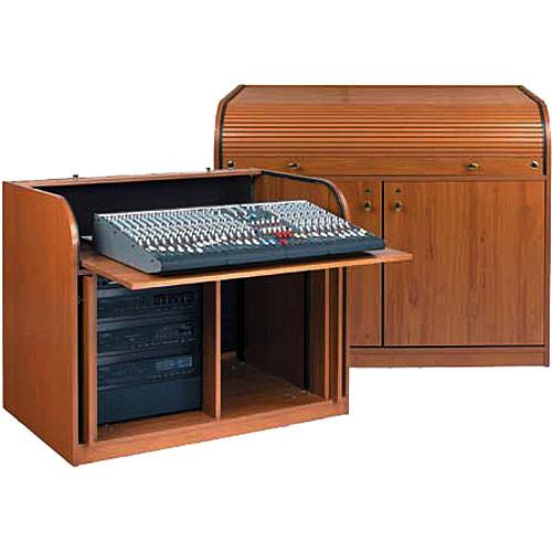 Raxxess Elite Roll Top Rack A/V Control Center, Model ERT-WTSD (Walnut)
