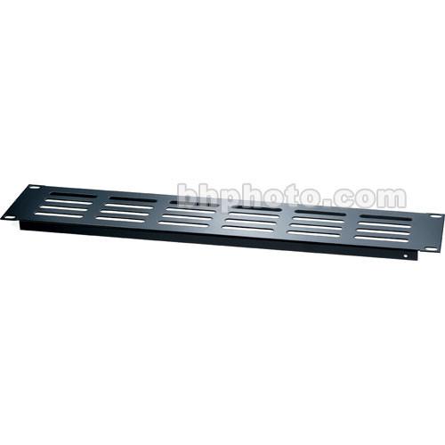 Raxxess Economy Steel Vent Panel, Model EVP2 with 2 Spaces (Black)