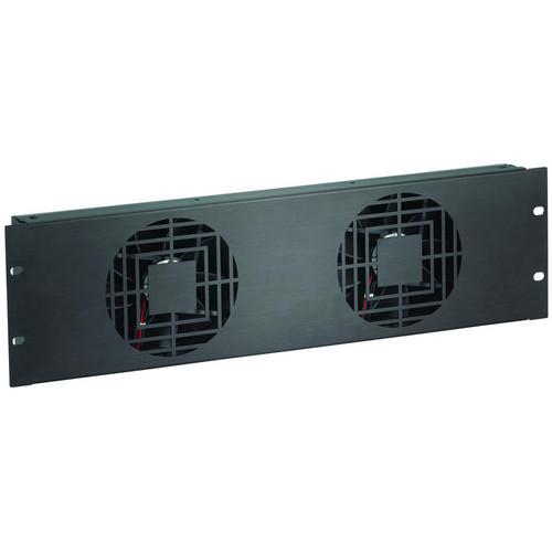 Raxxess NAF32QBA 3 U Quiet Dual Fan Panel