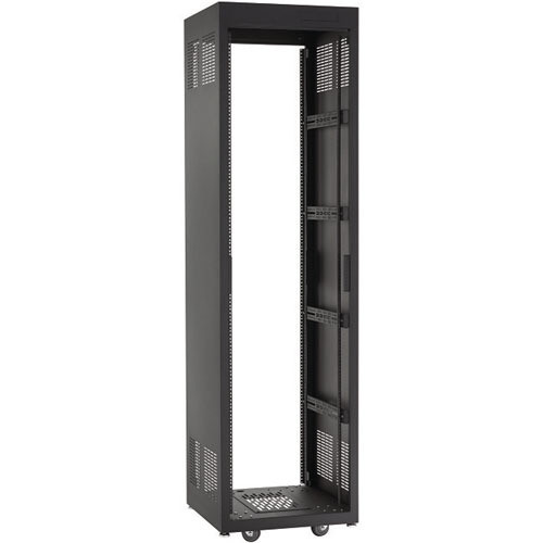 "Raxxess NE1F4423 Free-Standing E1 Enclosed Rack (44 U Tall, 23"" Deep)"